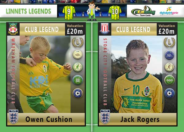 The Runcorn Linnets Akidemy Card Book - Legends Pages 10 to 11