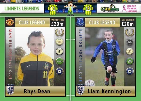 The Runcorn Linnets Akidemy Card Book - Legends Pages 12 to 13