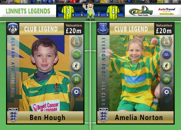 The Runcorn Linnets Akidemy Card Book - Legends Pages 4 to 5