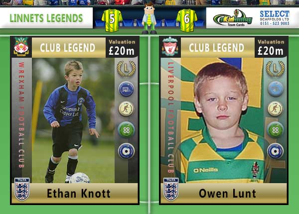 The Runcorn Linnets Akidemy Card Book - Legends Pages 6 to 7