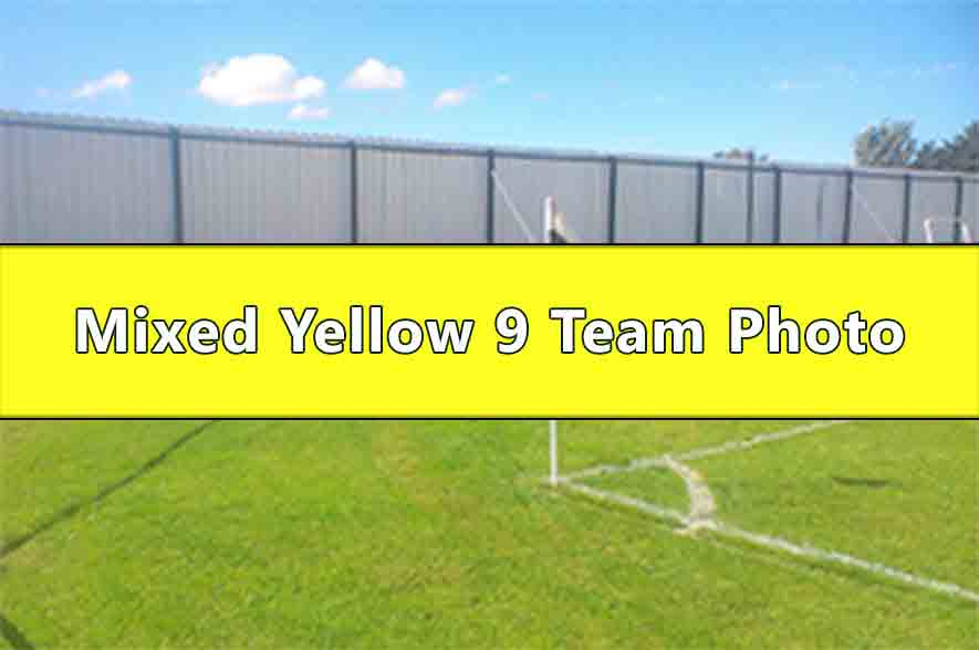 Runcorn Linnets Junior Football Mixed Yellow Under 9s Team Photo