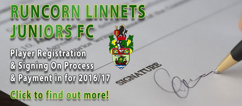 Runcorn Linnets JFC Signing On & Payments