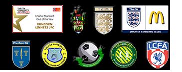 Runcorn Halton Liverpool City Region Junior Football Club Banner
